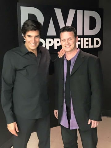 Atlanta magician with David copperfield