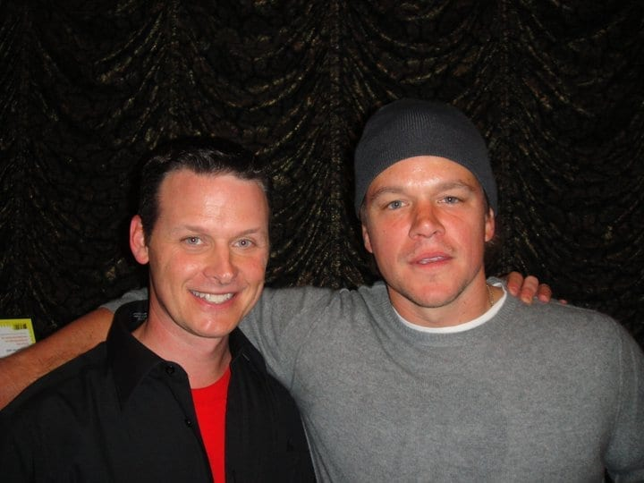 Atlanta Magician performing for Matt Damon at the magic castle.