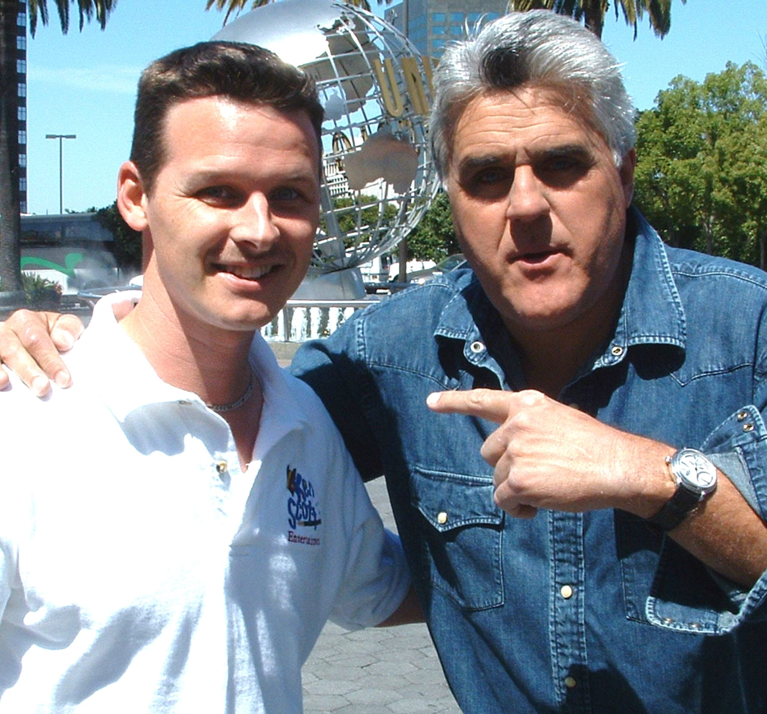 Atlanta Magician Ken Scott with Jay Leno.